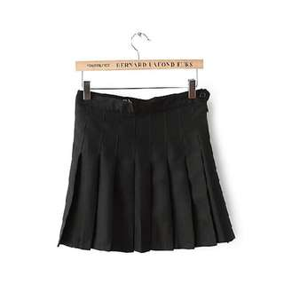 二手-百摺裙 短裙 黑 AA美國