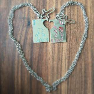 Couple Necklace (sliver)