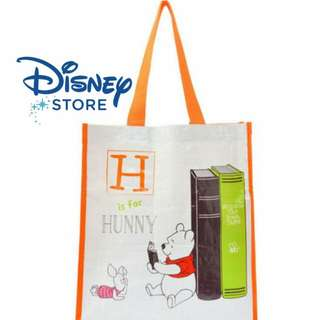 迪士尼Store維尼塑膠編織手提袋