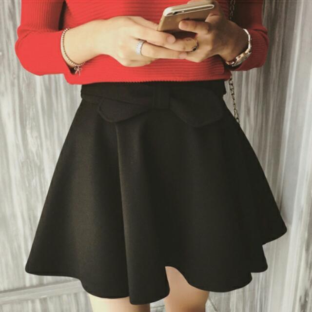 現貨*免運🌸秋裝新款傘裙(單色黑色)