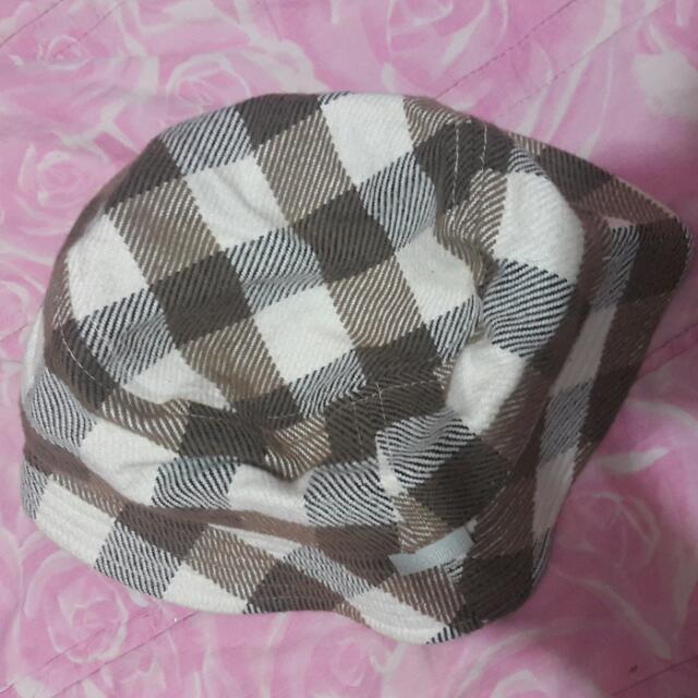格紋 漁夫帽