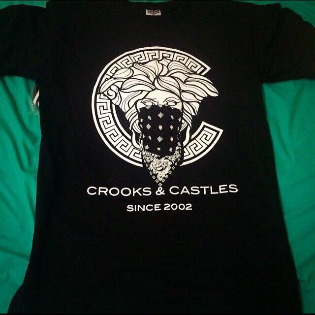 Brand New Crooks And Castle Medusa Ghetto Tee