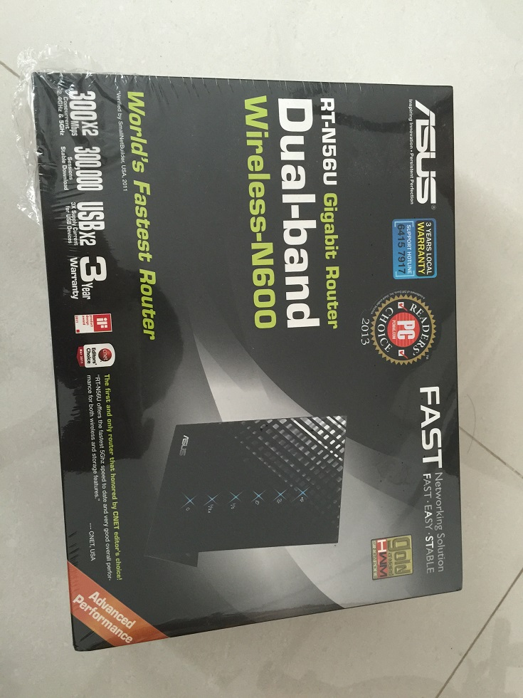 brand new sealed in box asus rt-n56u wireless-N router from m1