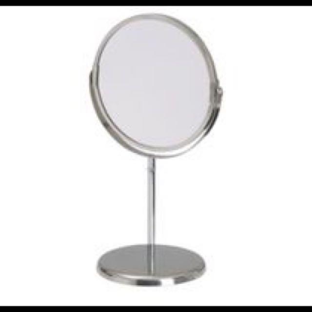 Ikea鏡組 不鏽鋼 化妝必備 桌鏡 立鏡