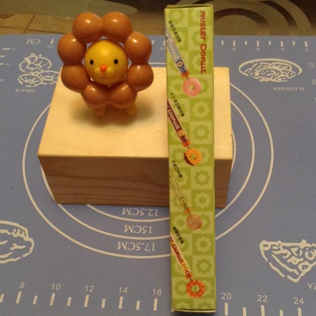 Mister Donut 獅子+甜甜圈筆