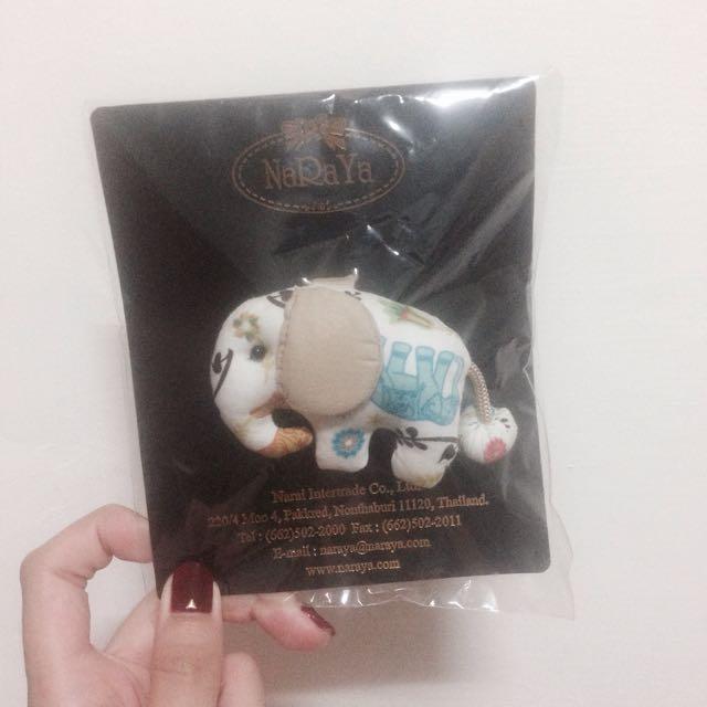 (免運)NaRaYa全新大象鑰匙圈