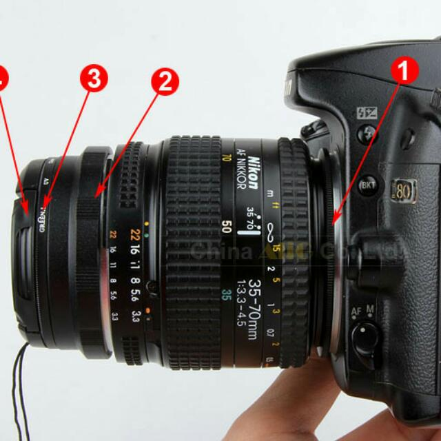 Nikon REVERSE Lens Ring Set For Macro