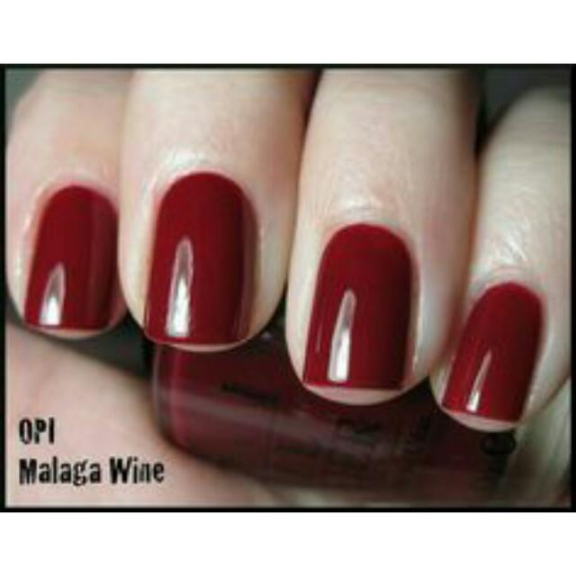 OPI Malaga Wine Nail Polish, Women\'s Fashion on Carousell
