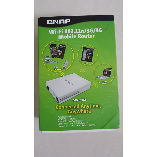 qnap mr-102 mobile 3G/4G portable wireless router and hotspot