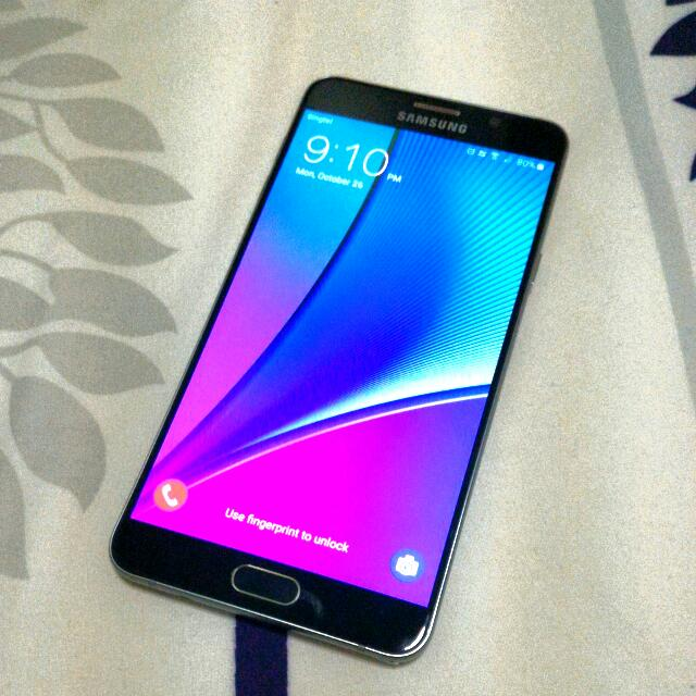 Samsung galaxy Note 5, 64GB, Black saphie