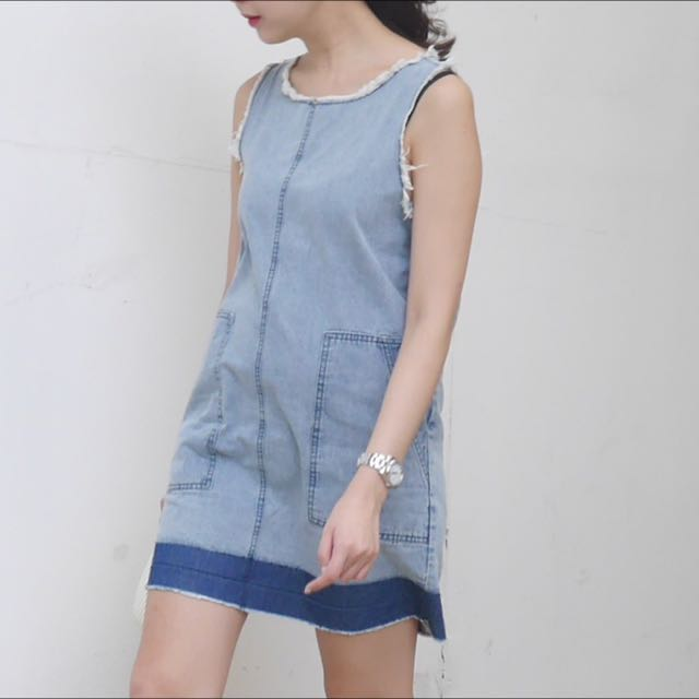 6303117dd28 Style Nanda Two Tone Denim Dress
