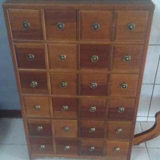 古董復古實木櫃