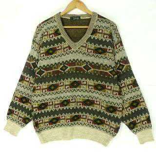 ☞義大利民族波西米亞美C02☞新增實穿☞grand grand復古VINTAGE古著毛衣