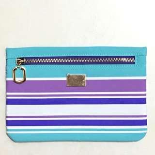 時尚藍紫彩條包