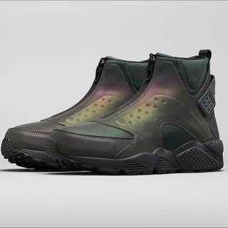 刪app最後賠錢賣全新NIKE AIR HUARACHE RUN MID PRM 武士鞋 高筒 25.5cm