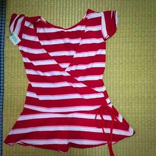 全新 紅白條紋上衣