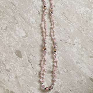 Pink Long Necklace 30cm