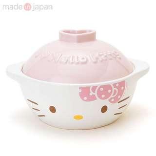 日本直送 Hello Kitty 凱蒂貓 瓷碗 陶瓷 土鍋 美濃燒