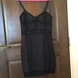 BNWOT Zara Black Spaghetti Strap Lace Dress
