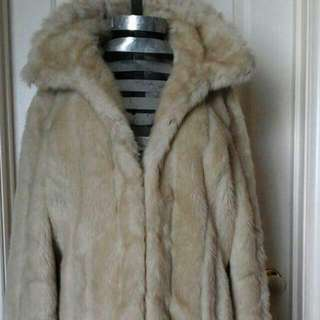 Faux Fur Coat Size 12