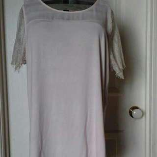 New Baby Pink Lacey Top