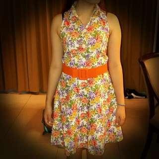 Collar Sleeveless Dress