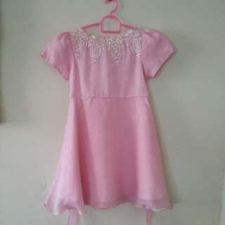 Girl Pink Dress (4 to 5 yrs old)