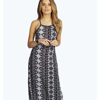 Halter Bareback Maxi Dress