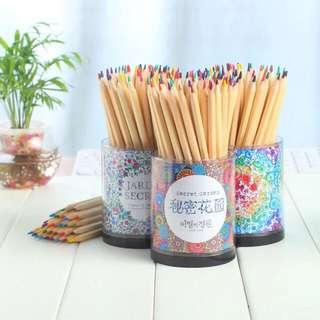 秘密花園60色 彩色油性鉛筆 預購