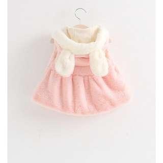 女童暖暖兔耳馬甲裙