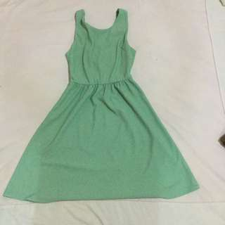 Pestle Green Skater Dress