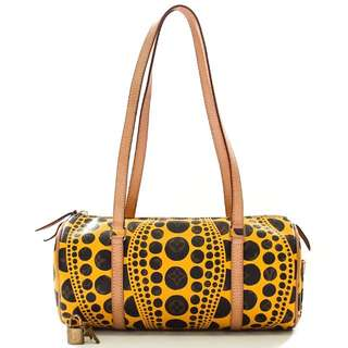 938a623423 Louis Vuitton Limited Edition Monogram Canvas Yayoi Kusama Pumpkin Dots  Papillon Bag