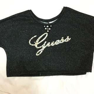 Guess Jeans Glitter Crop Top