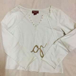 Guess Jeans White Crop Top