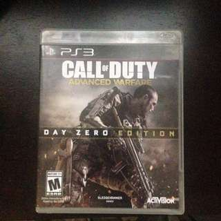PS3 Call Of Duty Advance Warfare Day Zero Edition