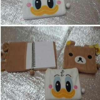 可愛絨毛套筆記本