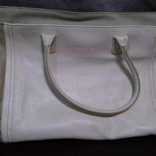 Agnes B牛皮手提包