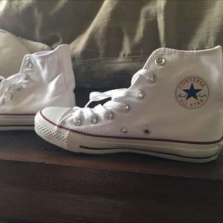 white converse size 36 1/2!