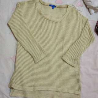 Valleygirl Cream Knit Sweater