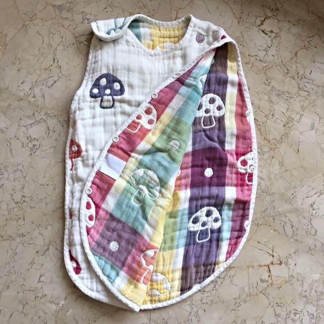 二手日本磨菇六層紗背心睡袋
