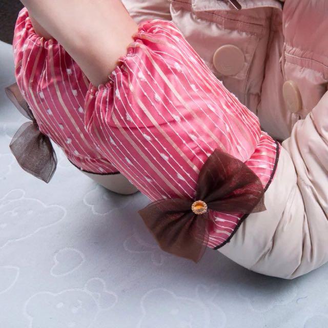 粉色蝴蝶結袖套