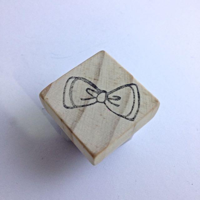 蝴蝶結手刻章/印章/橡皮章