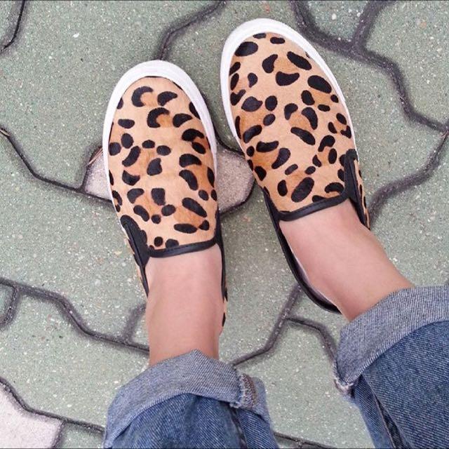 ✈️韓國空運✈️馬毛豹紋厚底鞋👟