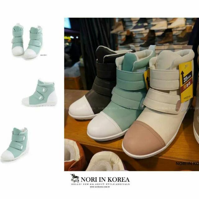 全新綠 韓高筒鞋