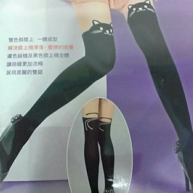 假膝上襪  貓咪款(台製)
