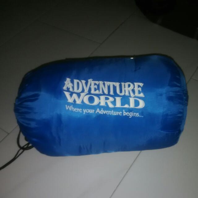 An Adventure World Sleeping Bag