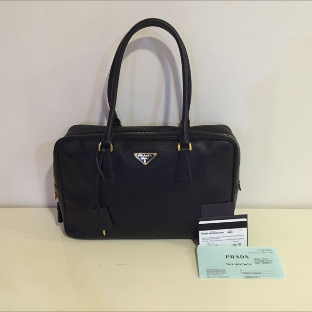 ca759fb0ef6c Authentic Prada Borsa Matt Saffiano Lux O Nero Tu