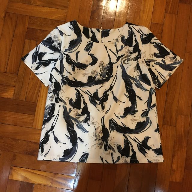 BN Abstract Marble Brush Strokes Top