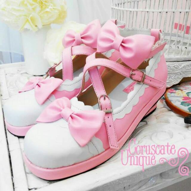 Handmade Lolita Pink Shoes