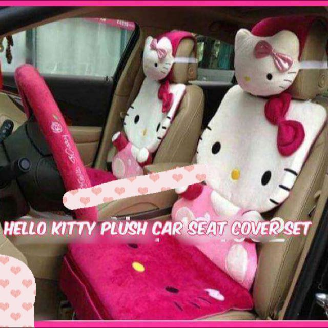 Hello Kitty Car Seat Cover Set Design Craft On Carousell